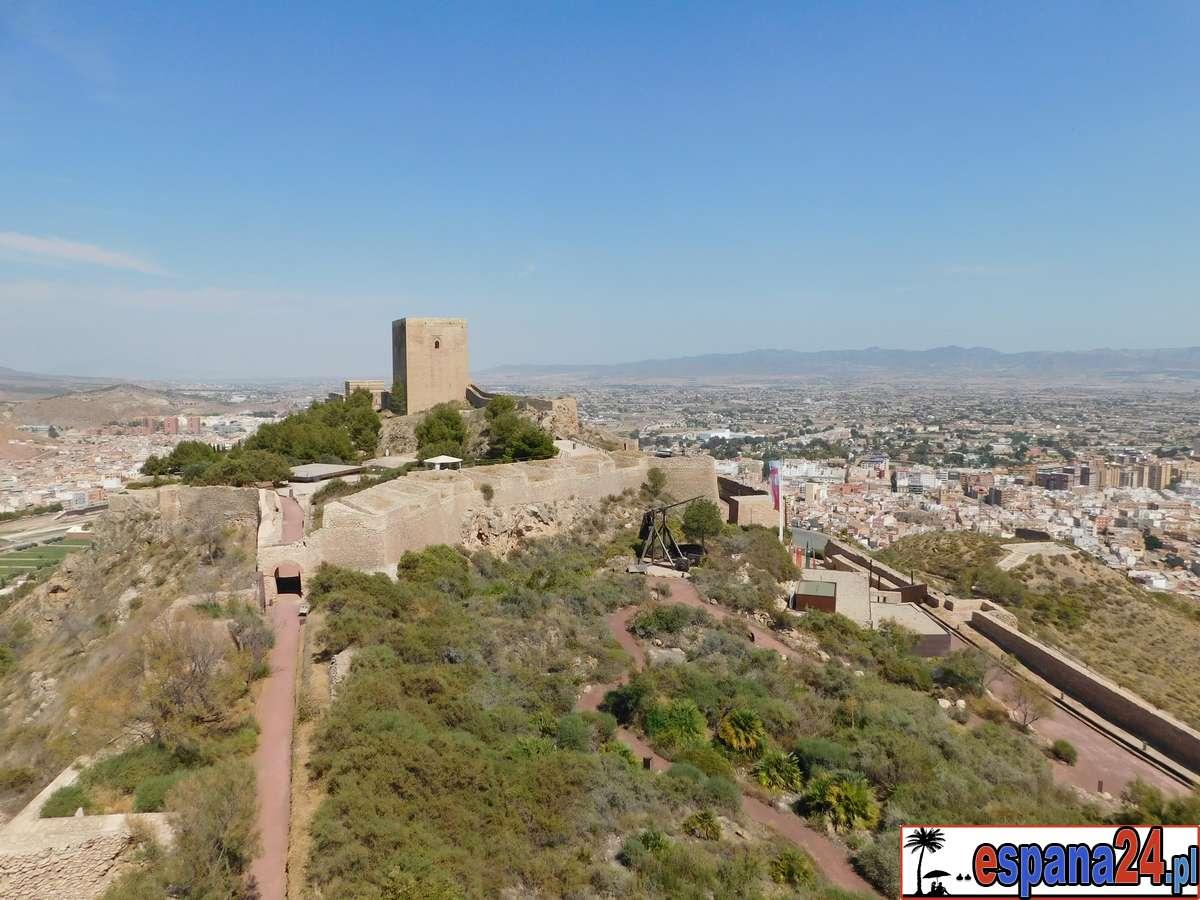 zamek, lorca, zewnątrz, mury, wieże, widoki